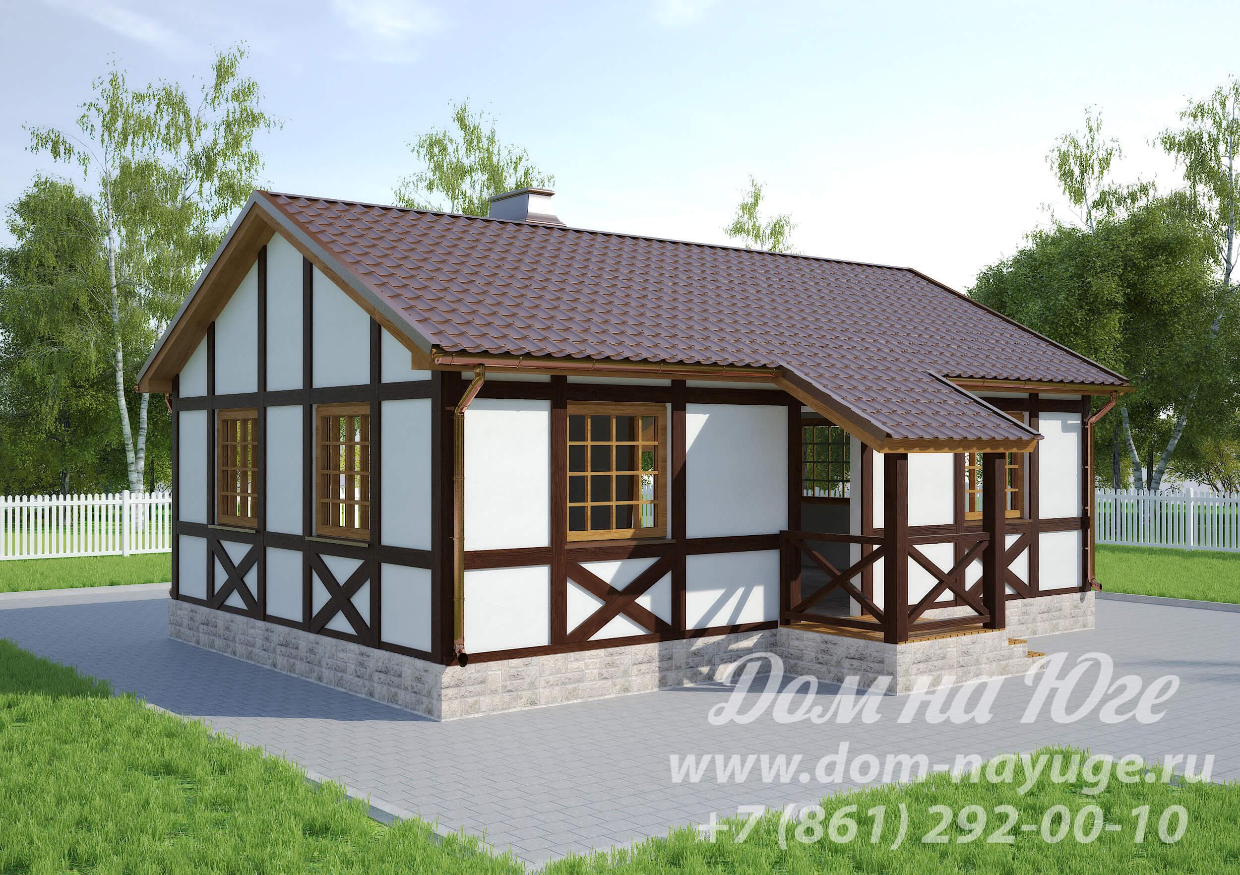 Купить одноэтажный каркасный дом