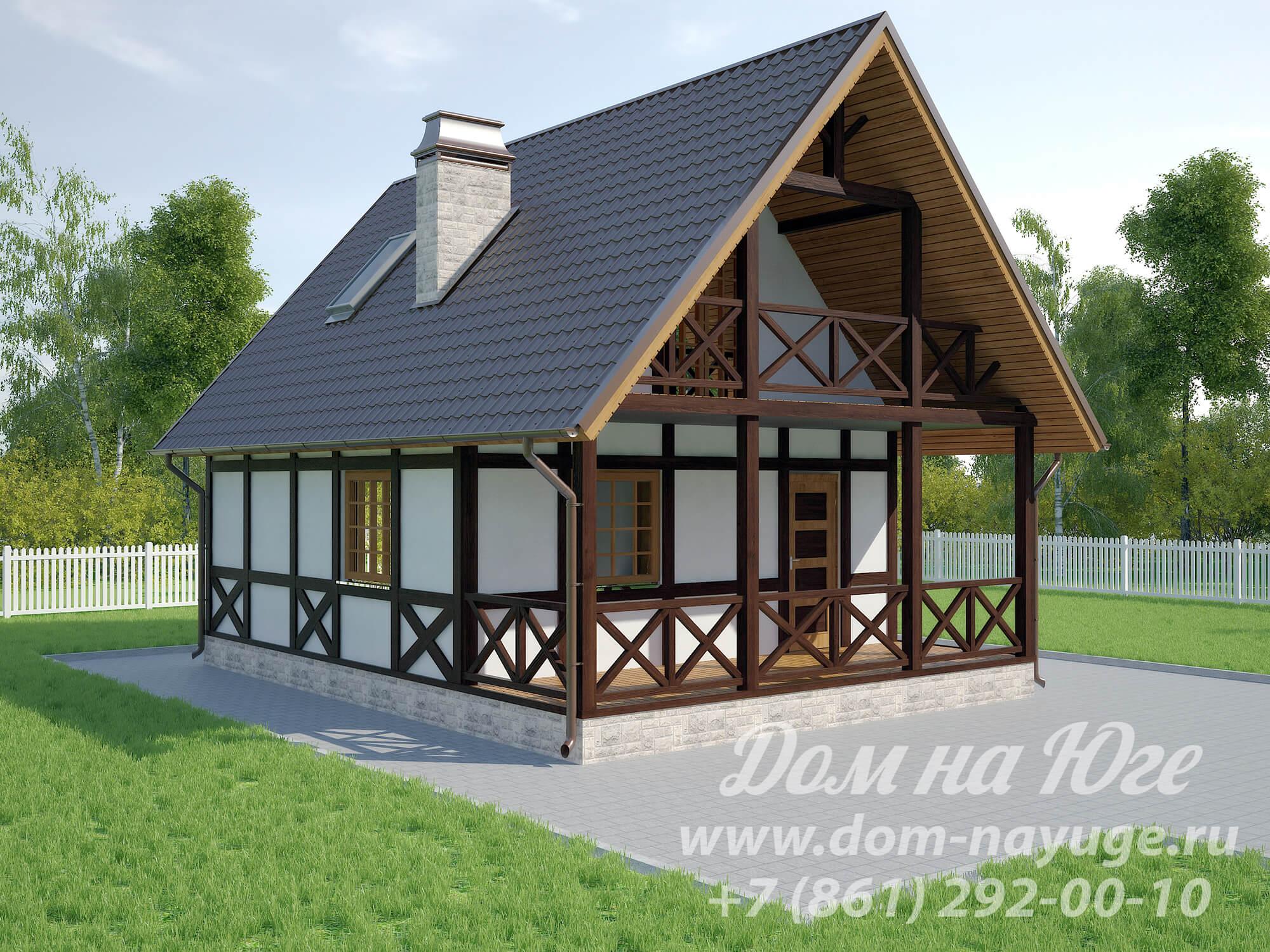 Проект каркасного дома ДМ7