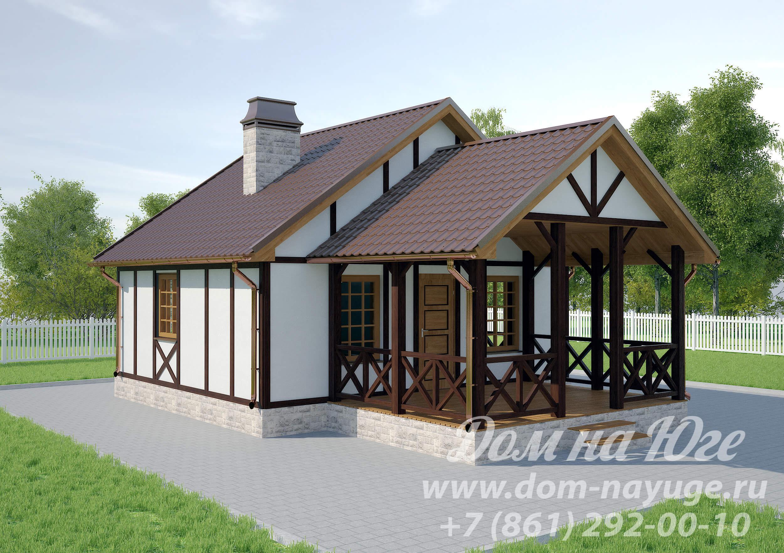 Проект каркасного дома ДМ8