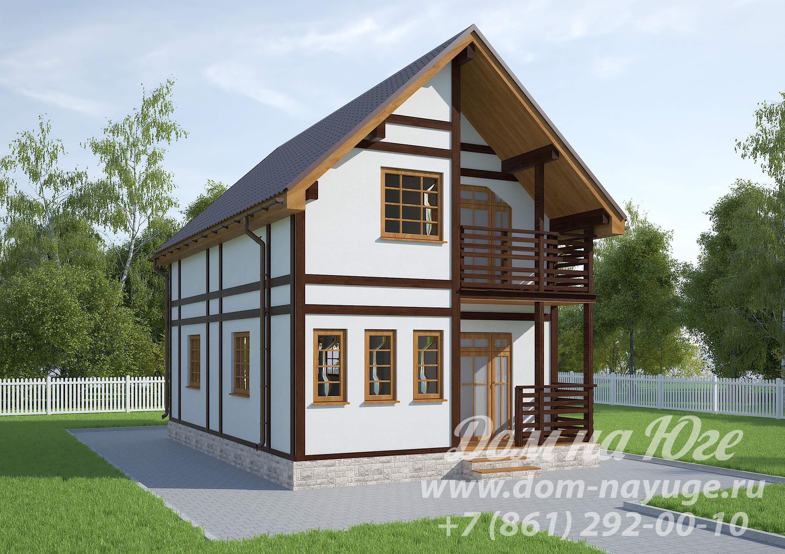 Проект каркасного дома БМ4