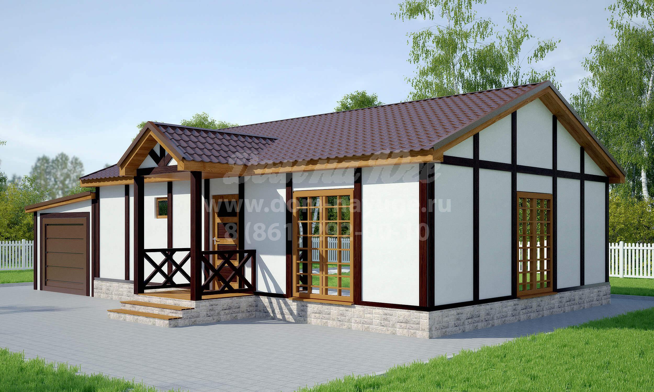 Проект каркасного дома ДМ2