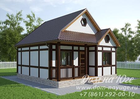 Проект каркасного дома ДМ10