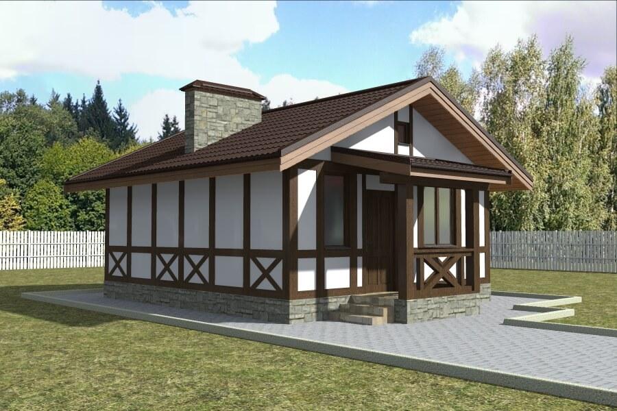 Проект каркасного дома ДМ9
