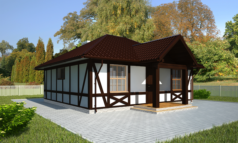 Проект каркасного дома БМ1
