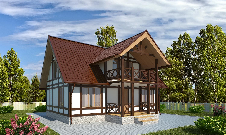 Проект каркасного дома БМ6