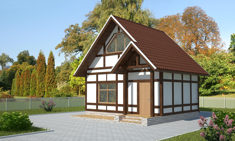 Проект каркасного дома ДМ11