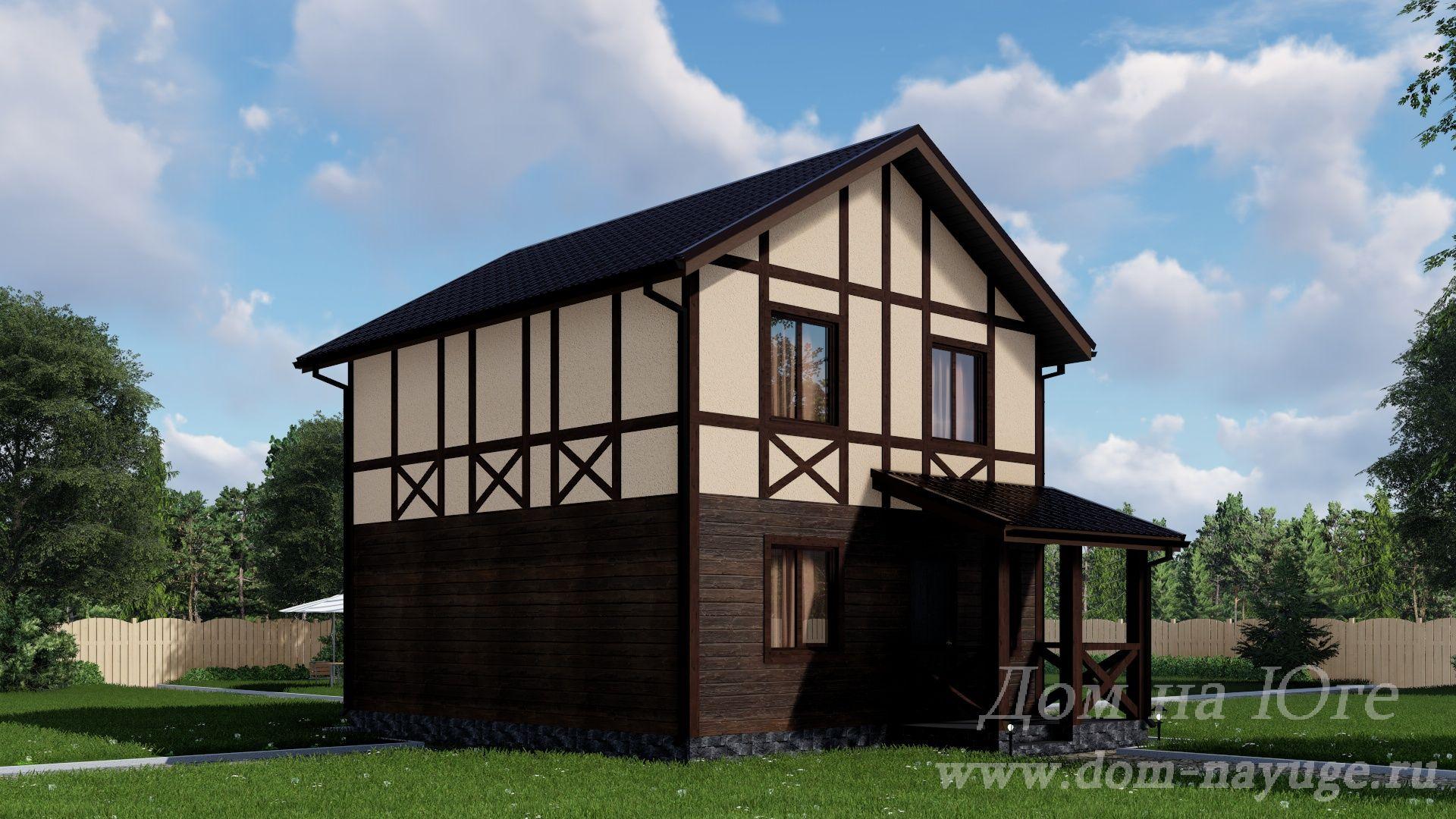Каркасный дом. КБ-97,5-2