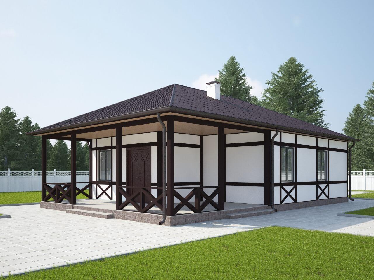 Проект каркасного дома ДМ6