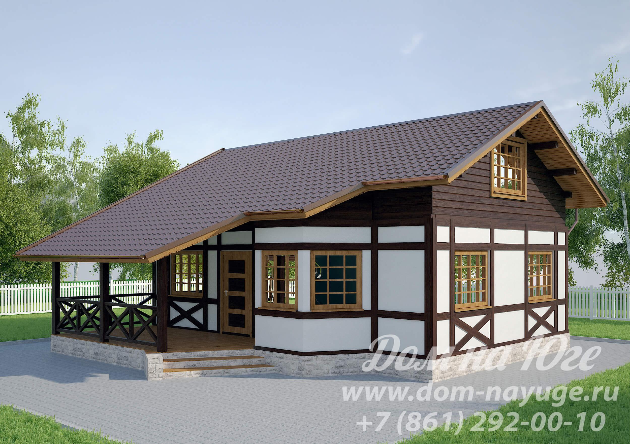 Проект каркасного дома ДМ3