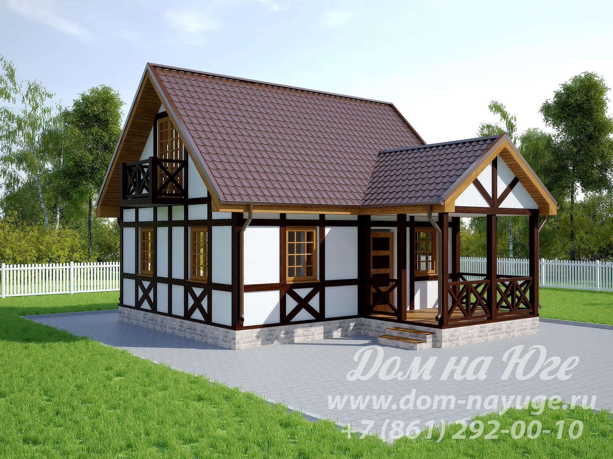Проект каркасного дома ДМ1