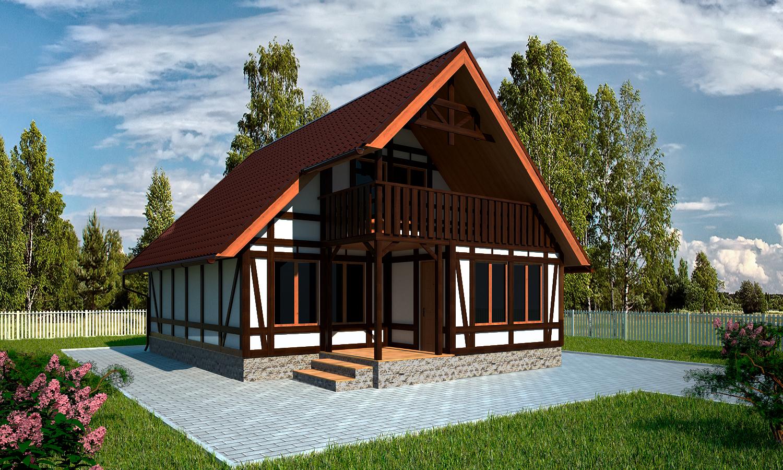 Проект каркасного дома БМ2