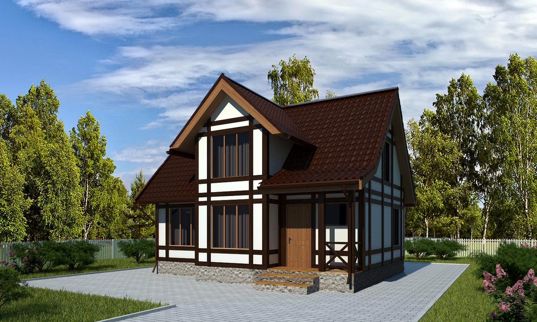Проект каркасного дома БМ5