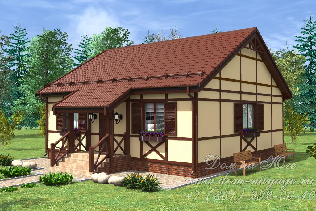 Проект каркасного дома ДМ14