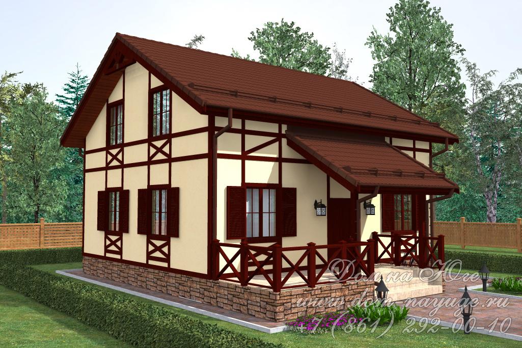 Проект каркасного дома БМ14