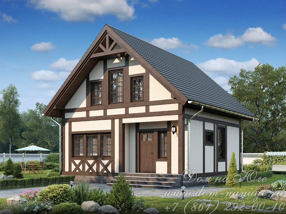 Проект каркасного дома ДМ12