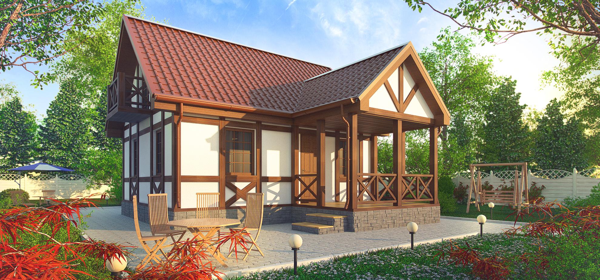 Проект каркасного дома БМ17