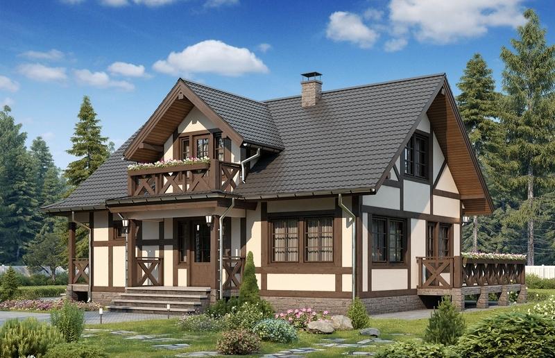 Проект каркасного дома БС1