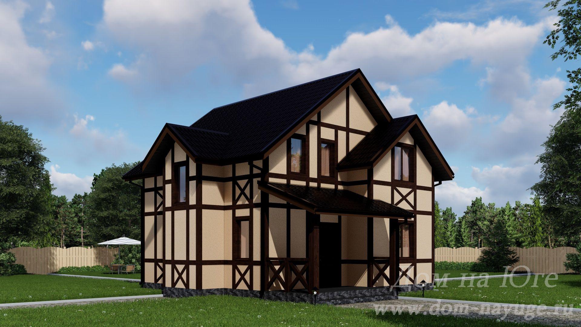 Каркасный дом. ИМ-136-2