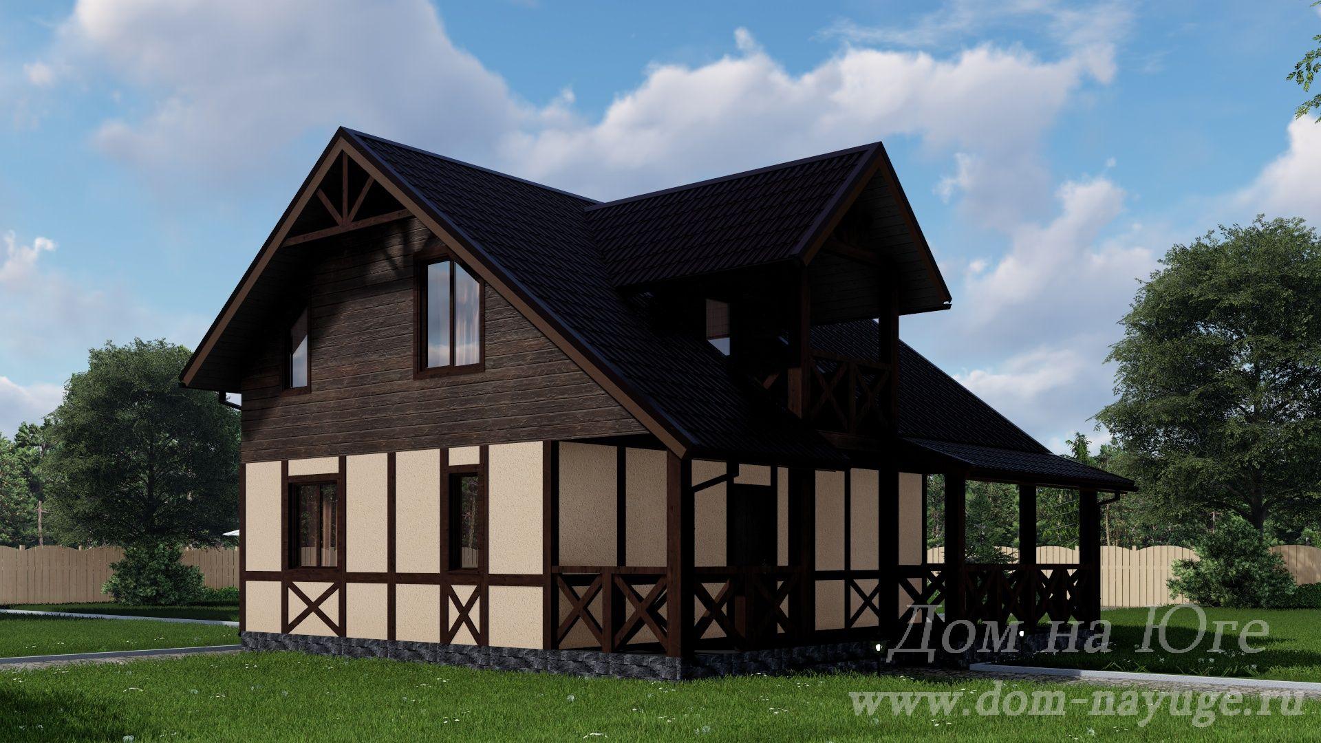 Каркасный дом. КБ-4-117