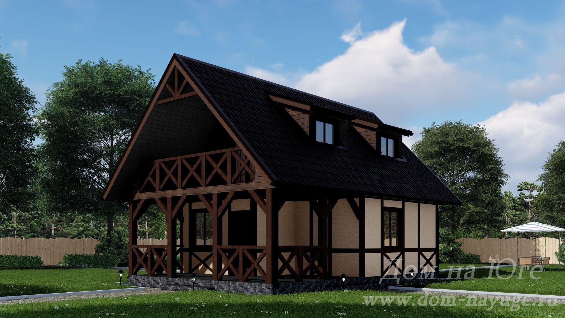 Проект каркасного дома КБ-104