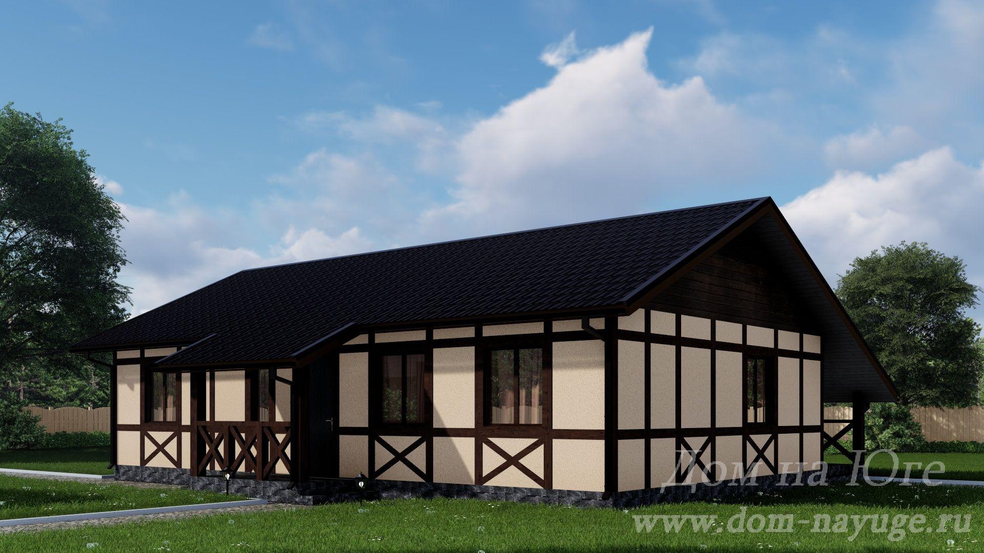 Каркасный дом. ФХ-3-104