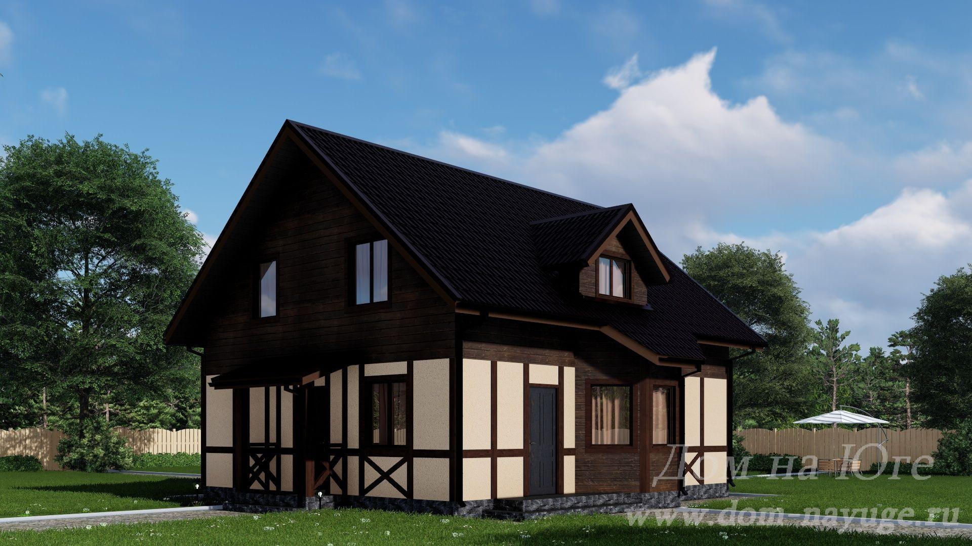 Каркасный дом. КБ-180.5