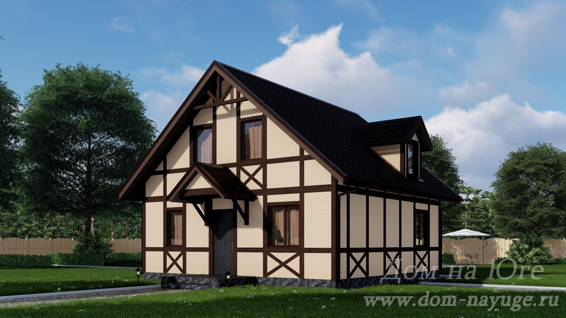 Каркасный дом. ИБ-1-128