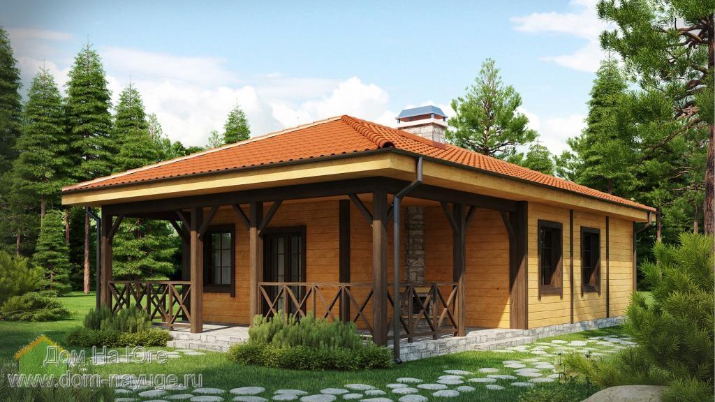 Каркасный дом ДМБ-85